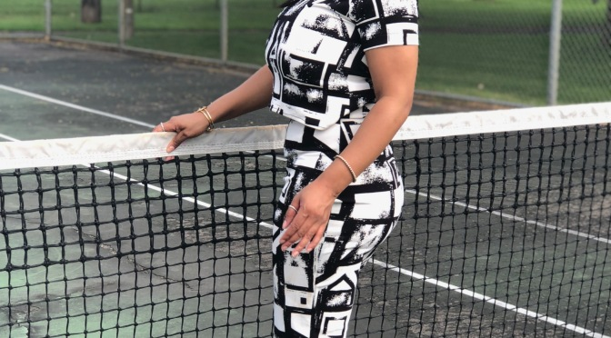 Tennis Court Fashion Moment   Fubelkloset Collection for Fashion Show MN Fall 2018