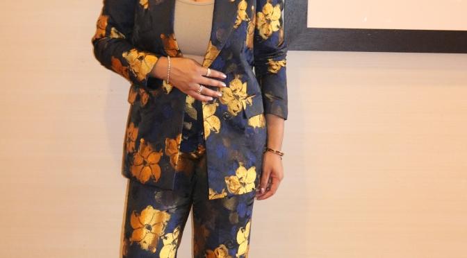 Minnafropolis Stepping into Fall Fashion with Zara Floral Jacquard Blazer & Pant